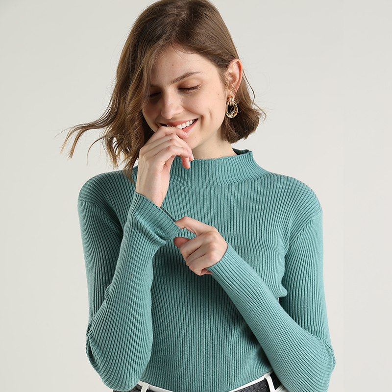 Autumn Sweater Women Pullover Crew Neck Winter Warm Knitted Long Sleeves Casual Slim Knitwear Stretch Female Sweaters