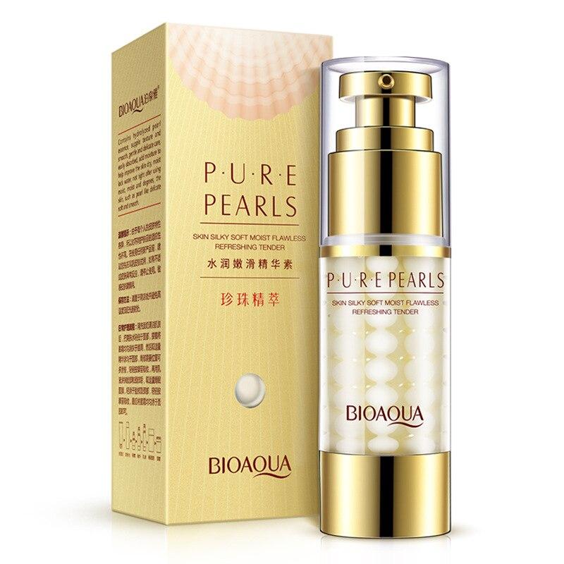 BIOAQUA Skin Care Pure Pearl Essence Collagen Hyaluronic Acid Face Deep Moisturizing Hydrating Anti Aging Anti Wrinkle Cream
