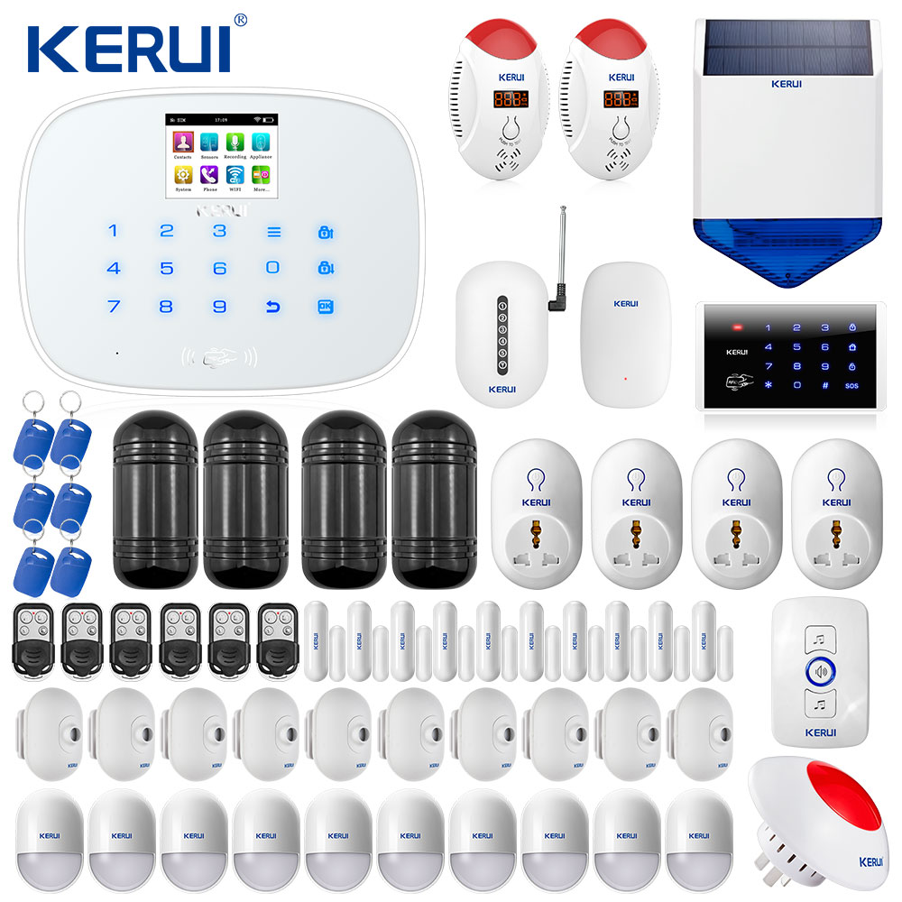 W193 3G WIFI GSM Home Burglar Alarm PSTN  Touch Screen Alarm Home Security Alarm System Romania free DHL tax included shipping