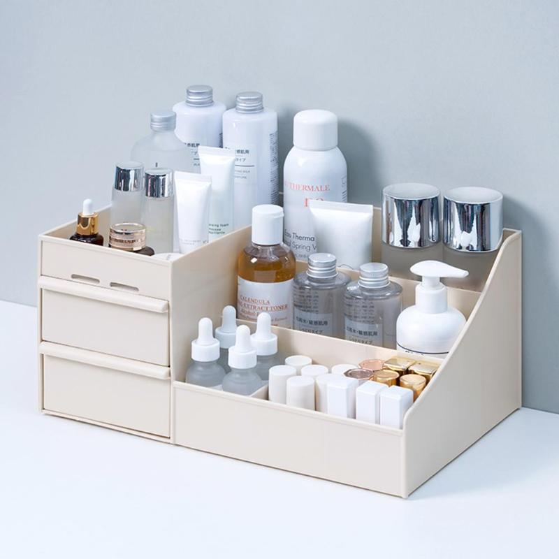 Large Capacity Cosmetic Storage Box Makeup Drawer Organizer Jewelry Nail Polish Container Skin Care Rack Sundries Storage Case