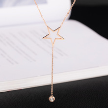 2019 Time-limited Rushed Collares Kolye Choker Star Necklace Pendant Long Titanium Steel Women Rose Does Chain Accessories