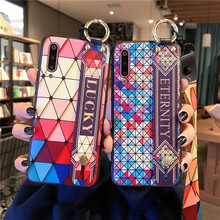 Wrist Strap Case For iphone XR XS MAX case Ring Lanyard Holder stand back cover 7 8 6 6s plus Phone Coque
