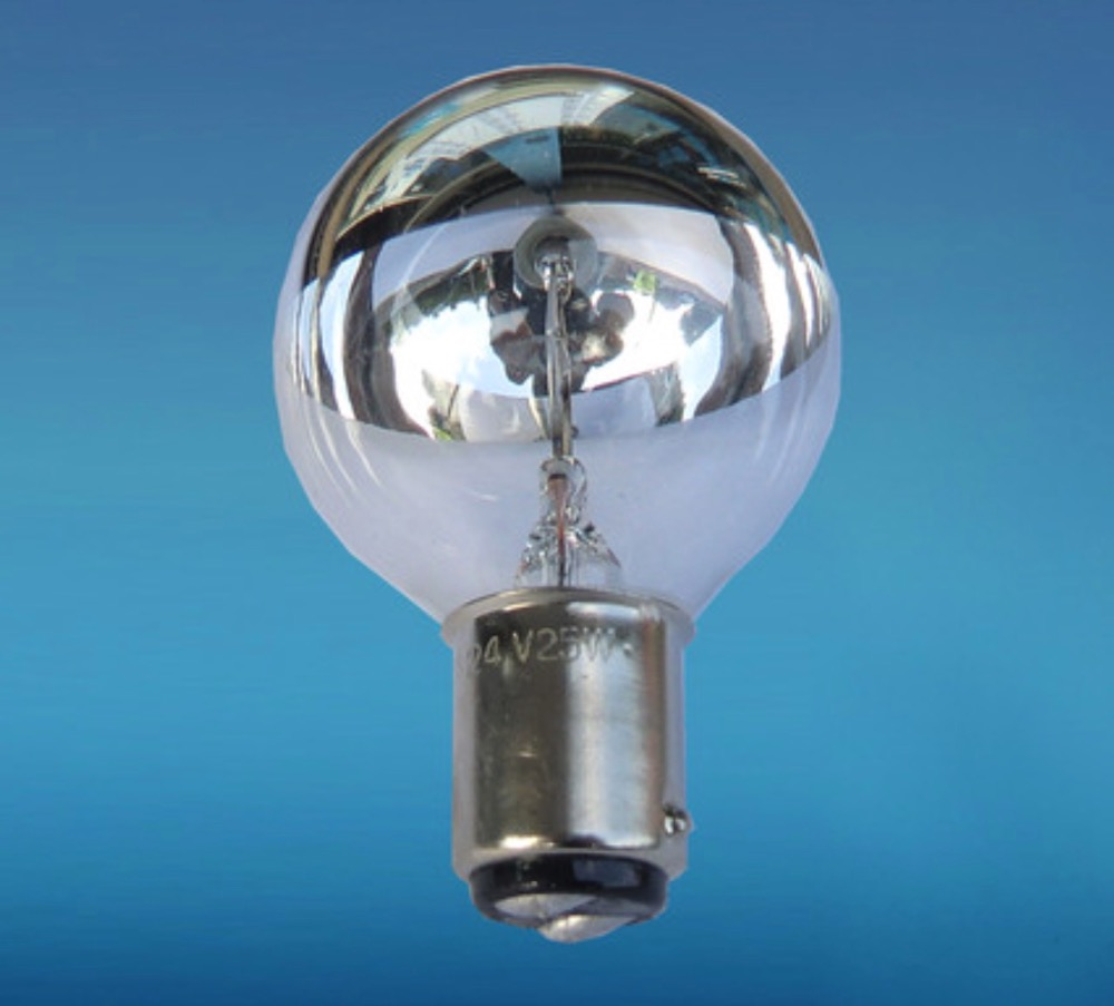 Купить с кэшбэком 2020 Real Sale White Metal Halide Lamp Indicator Light 24v25w Surgical None Shadow Lamp Old Fashioned Light Bulb Ba15d 24v 25w