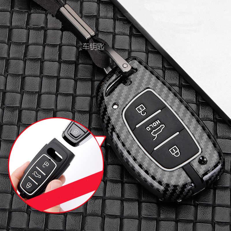 Zinc alloy+silica gel Car Key Case Full Cove For Hyundai IX25 IX35 I20 I30 I40 hb20 Santa Fe Creta Solaris 2017 Auto Acessories