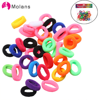 40/50/100pcs/Set Girls Colorful Nylon Small Elastic Hair Bands Children Ponytail Holder Rubber Kids Accessories - discount item  40% OFF Headwear