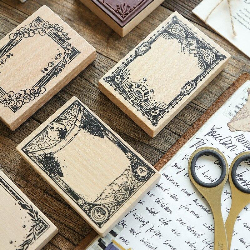 Vintage Plant Leaf Label Decoration Stamp Wooden Rubber Stamps For Scrapbooking Stationery DIY Craft Standard Stamp