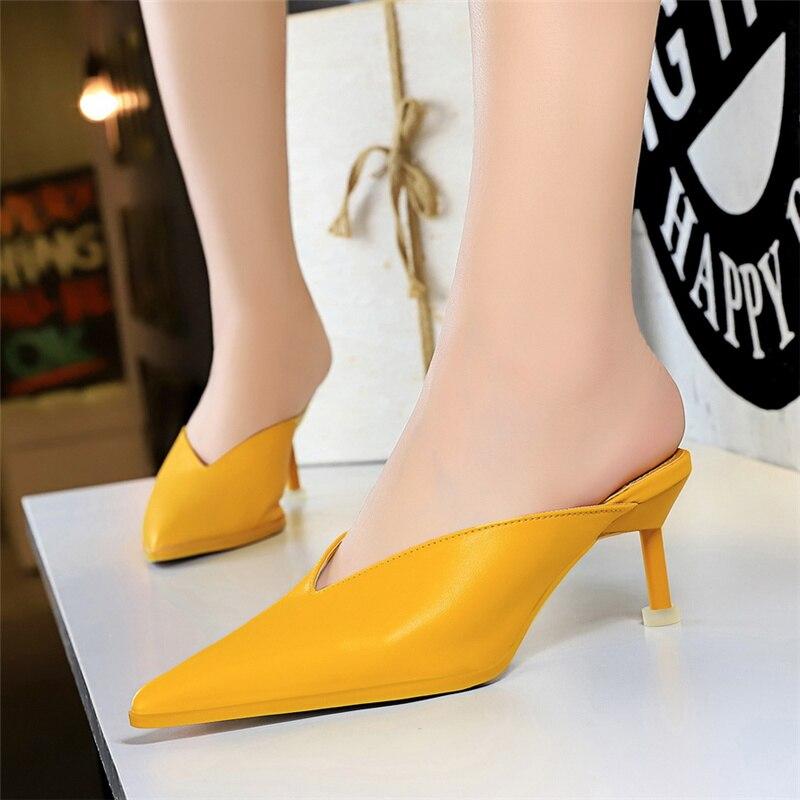 Summer Sliver Woman Pumps Daily loafers Women Shoes Heels Sexy Joker Heels Women V Buckle Hollow Female Shoes 2020 Talon Femme|Women's Pumps| - AliExpress