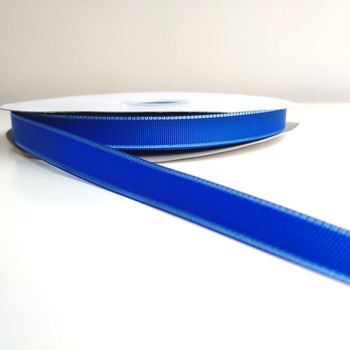 new design 16mm wide blue color satin grosgrain ribbon for christmas/new year holiday decoration tape