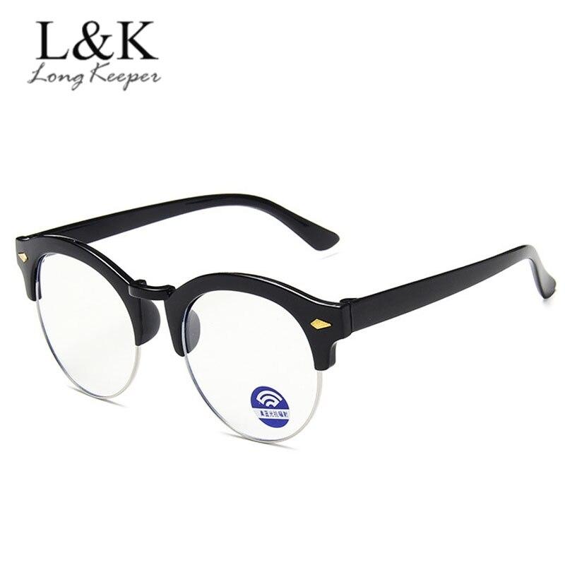 Kids Anti-blue Light Glasses Frame For Children Boys Girls Computer Gaming Eyeglasses Classic Semi Rimless Optical Eyewear