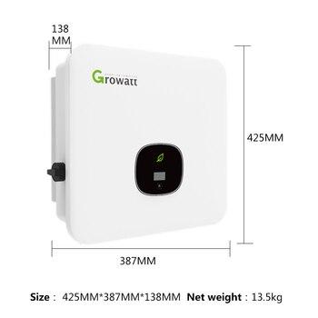 Growatt Inverter On Grid Inverter 8000w 8kw 9000w 9kw 10kw 10000w 11000w 11KW 380v Dual MPPT 98.4% Efficency Pure Sine Grid Tie grid tie inverter 2000 watt home wind inverter dc 48v to ac 240v inverter on grid