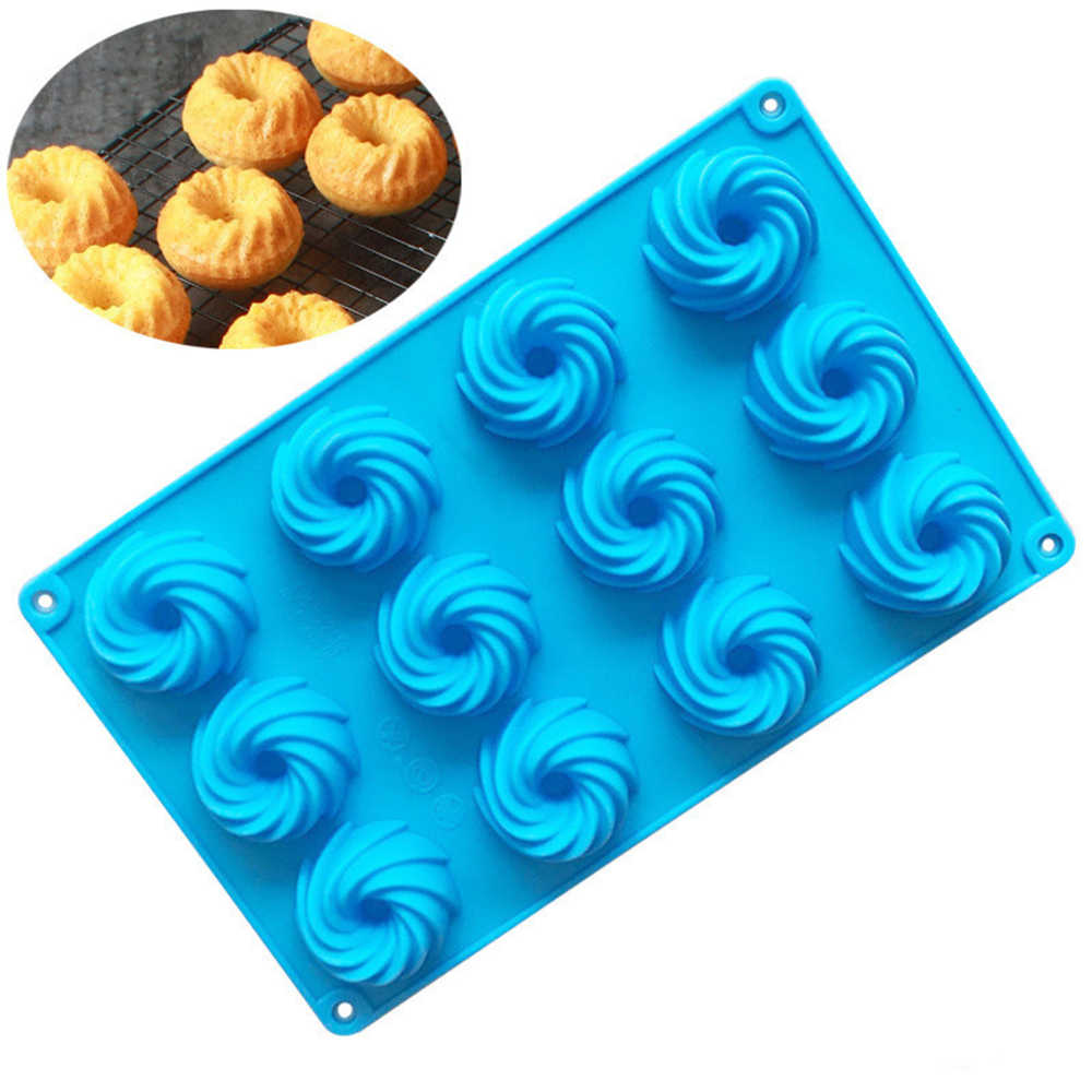 2pcs Spiral Silicone Swirl Ring Cake Baking Tin Mold Mould Pan Bakeware