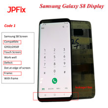 JPFix Super Amoled Samsung S8 LCD Screen For G950/G950F Samsung S8 Screen Display Replacement Part LCD Digitizer Assembly()