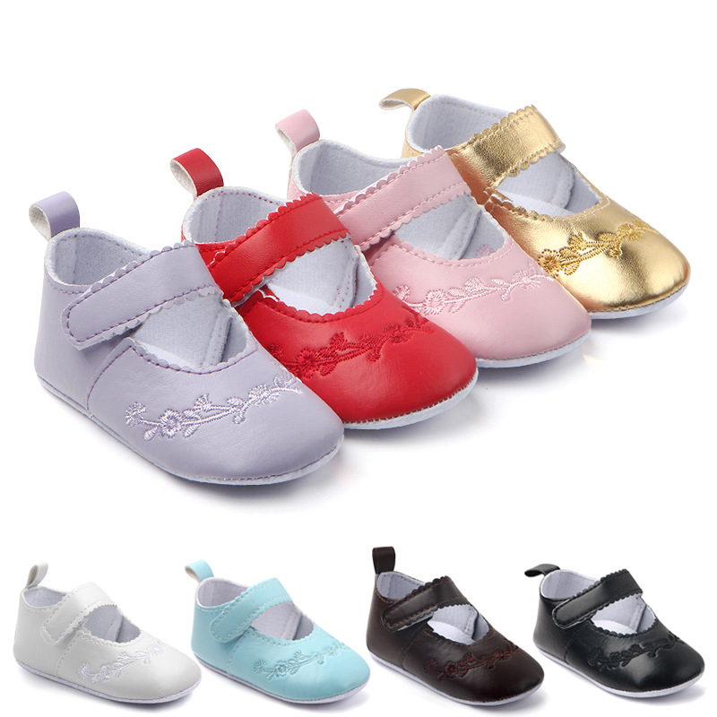 0-18 Months Kid Girl Pu Leather Princess Baby Shoes Girl Newborn Comfy Crib Shoes Newborn Infant Baby Girl Boots