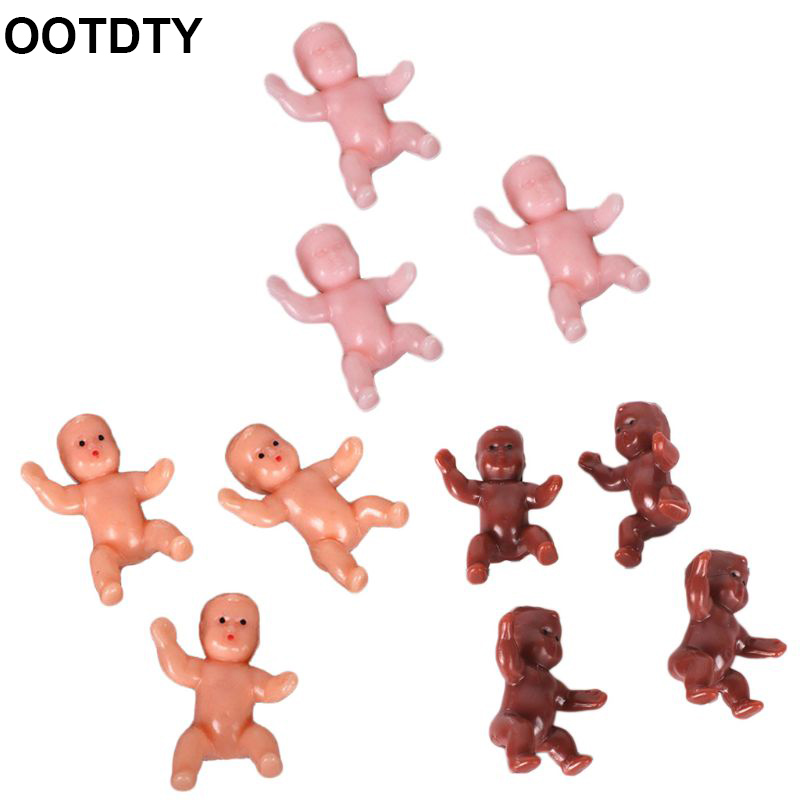 10Pcs/Set Cute Baby Shower Mini Doll Plastic Child Full Moon Gifts Boys Girls Party Supplies Kids Small Toy Accessories