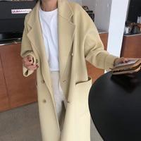 2019 Winter loose cashmere coat women long big oversize wool coat