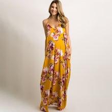 Платья для беременных женщин Одежда с v образным вырезом платья