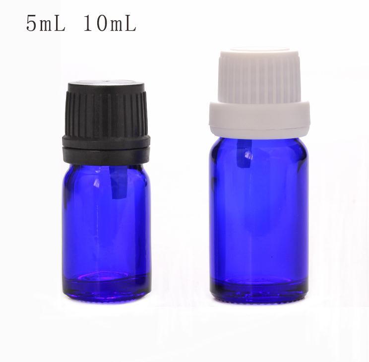 Vidro Azul garrafa De óleo de Vidro SN114