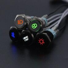 Настраиваемый металлический светодиодный светильник 16 мм с глиноземным наконечником/фиксацией логотипа, фиксированная кнопка переключен...