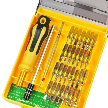 32 in 1 Precision Mini Screwdriver Set rc hex Driver torx small pocket magnetic screw driver destornillador computer toolkit 31 in 1 precision screwdrivers toolkit black yellow