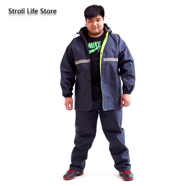 Add Fertilizer To Increase Raincoat Suit Adult Men Rain Coat Double Layer Waterproof Large Plus Fat People Raincoat Gift Ideas 5