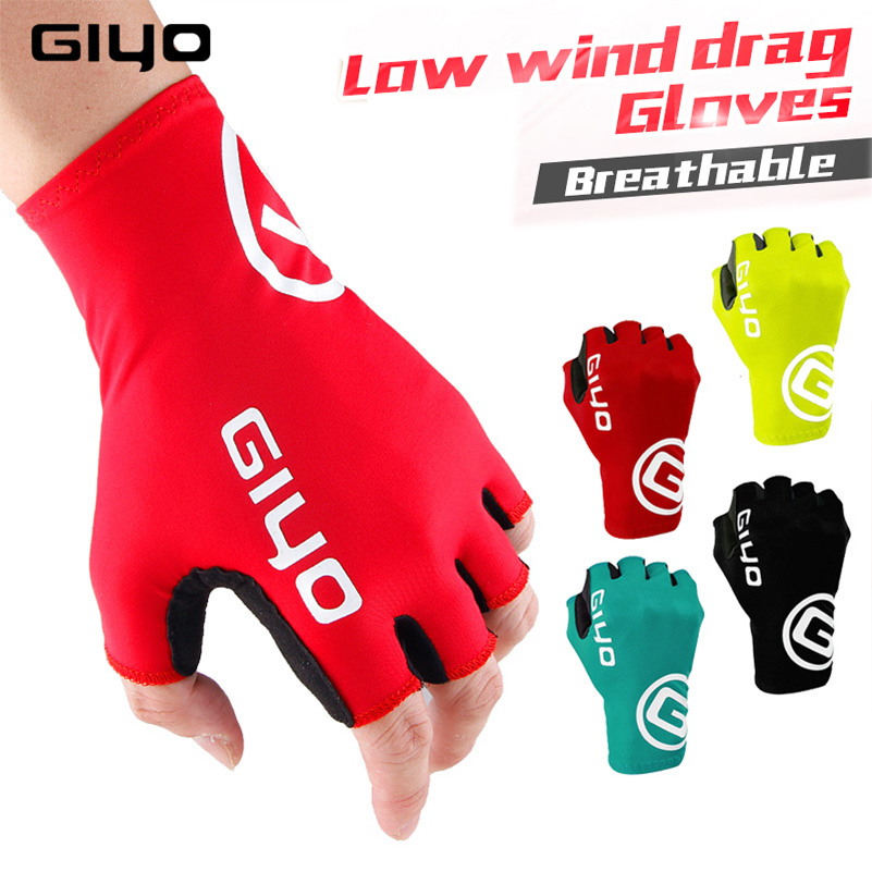 Giyo Cycle Half -finger Gloves Gel Sports Bicycle Race Gloves Of Bicycle Mtb Road Guantes Glove Cycling Men's Mid -term Women