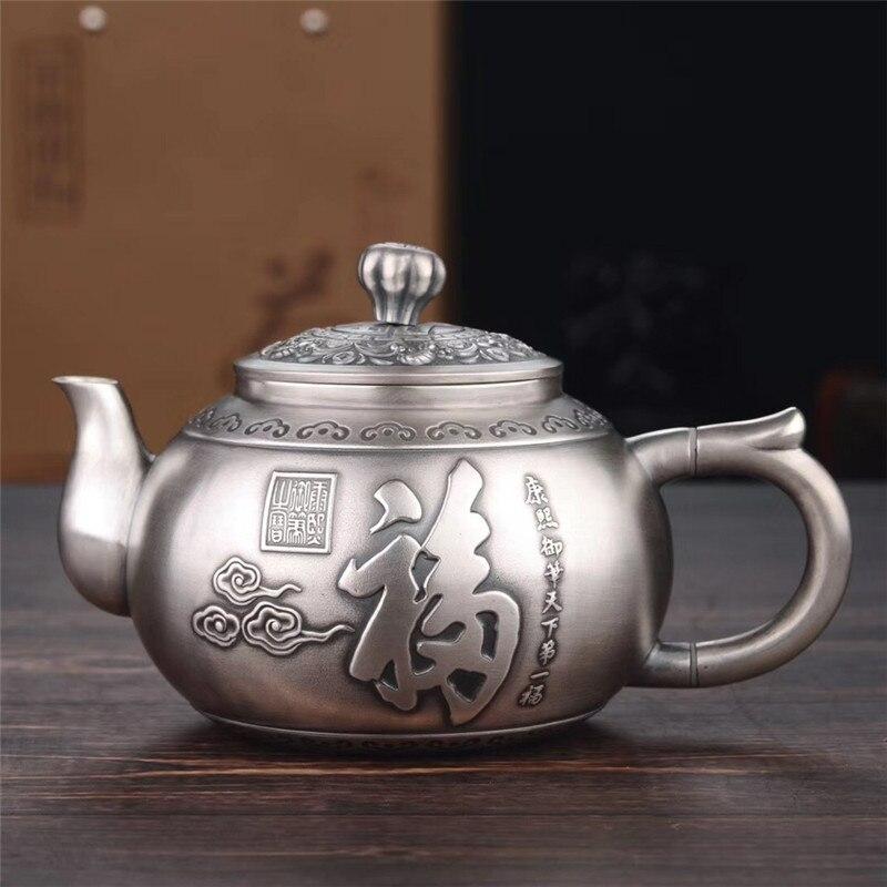 Tea Set, Stainless Steel Teapot, Silver Teapot, Hot Water Teapot, Kung Fu Tea Set.
