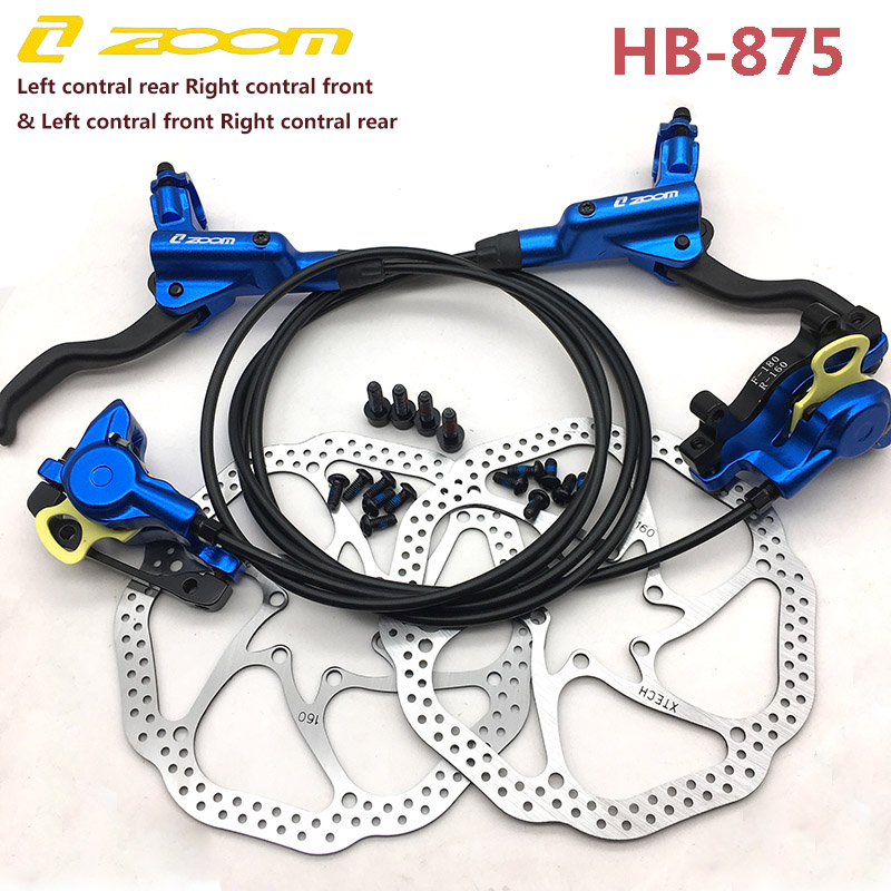 New ZOOM HB-875 Front /& Rear MTB Disc Brake Hydraulic Mountain Bike Bicycle
