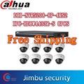 Камера видеонаблюдения Dahua система DHI-NVR5208-8P-4KS2 мульт язык комнатная сетевая камера IPC-HDBW4433R-S 8 шт. 4MP POE H.265 h.264