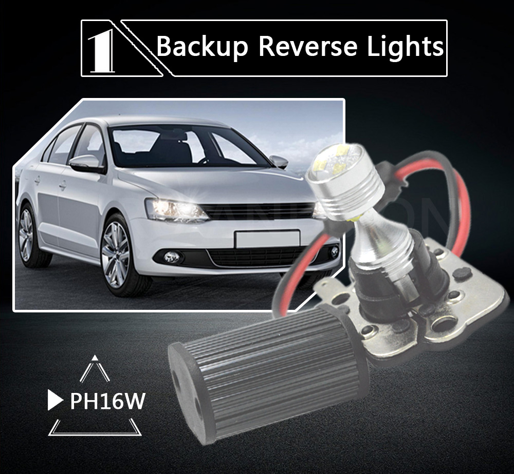 High Power 12 24V PH16W PW16W White LED Bulbs For 2011 2013 BMW E92 E93 2010 up Audi A7 S7 RS7 Backup Reverse Light 600lm in Car Headlight Bulbs LED from Automobiles Motorcycles