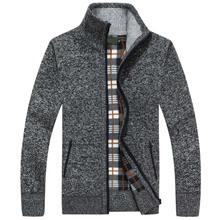 2020 nowa jesienno-zimowa męska sweter ciepły kaszmirowy wełniany rozpinany sweter męski płaszcz sukienka dzianina casualowa odzież męska tanie tanio LEGIBLE Stałe MANDARIN COLLAR Poliester Sweatercoat Kieszenie Na co dzień Pełna REGULAR Komputery dzianiny Grube zipper
