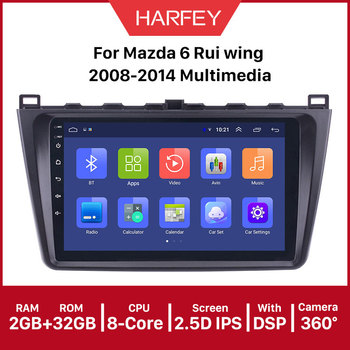Harfey car Multimedia Player GPS 2DIN 9inchAndroid 9.1 Car Radio For Mazda 6 Rui wing 2008 2009 2010 2011 2012 2013 2014 image