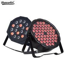 LED plat Par54x3w RGBW éclairage professionnel 18x3W LED lumières de scène effet DMX512 maître esclave DJ Disco partie