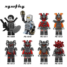 Ninja Master Golden Dragon Lloyd Iron Baron Chew Toy Cole Garmadon Snake Bytar Muzzle NYA Wu Building Block Toys children JM145