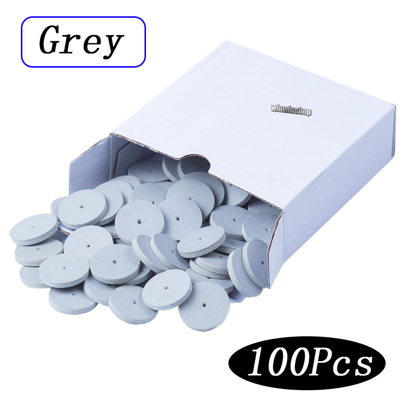 100pcs Assorted Dental Lab Polishing Wheels Burs Silicone Rubber Polishers  - 5 Colors