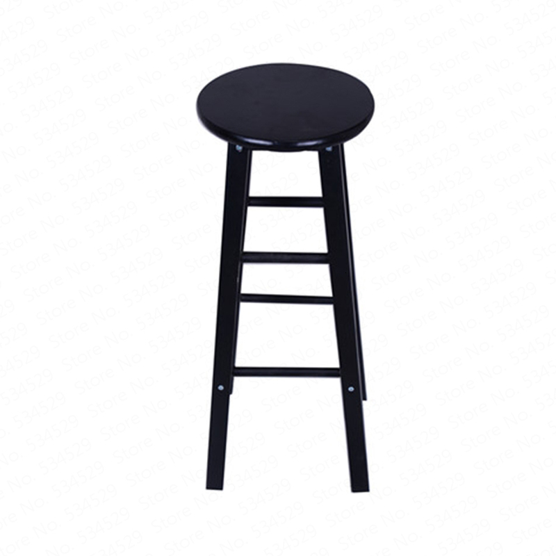 A1Nordic Bar Stool Modern Minimalist  Chair Solid Wood Home   Creative Fashion High