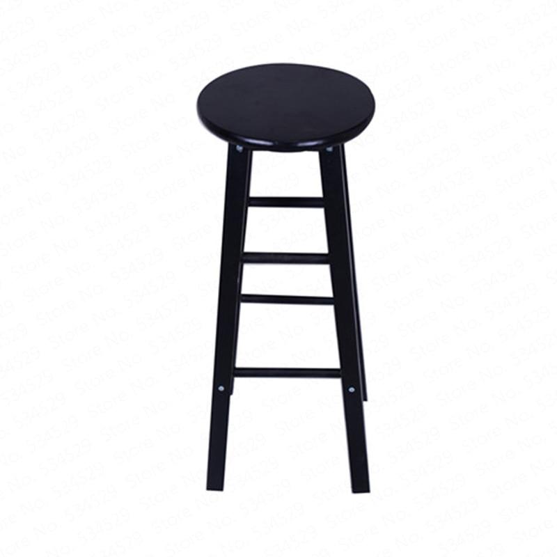 A1Nordic Bar Stool Modern Minimalist  Chair Solid Wood Home   Creative Fashion High
