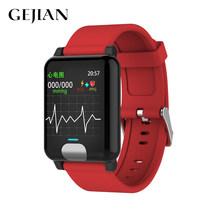 GEJIAN smart watch ECG PPG blood pressure measurement IP67 activity tracker Gps Smartwatch wristband heart rate IOS mobile phone(China)