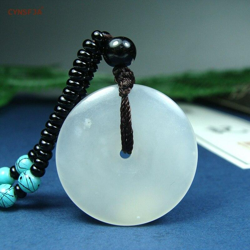CYNSFJA véritable certifié naturel Hetian Jade néphrite charme amulette paix boucle Jade pendentif vert de haute qualité œuvre meilleurs cadeaux