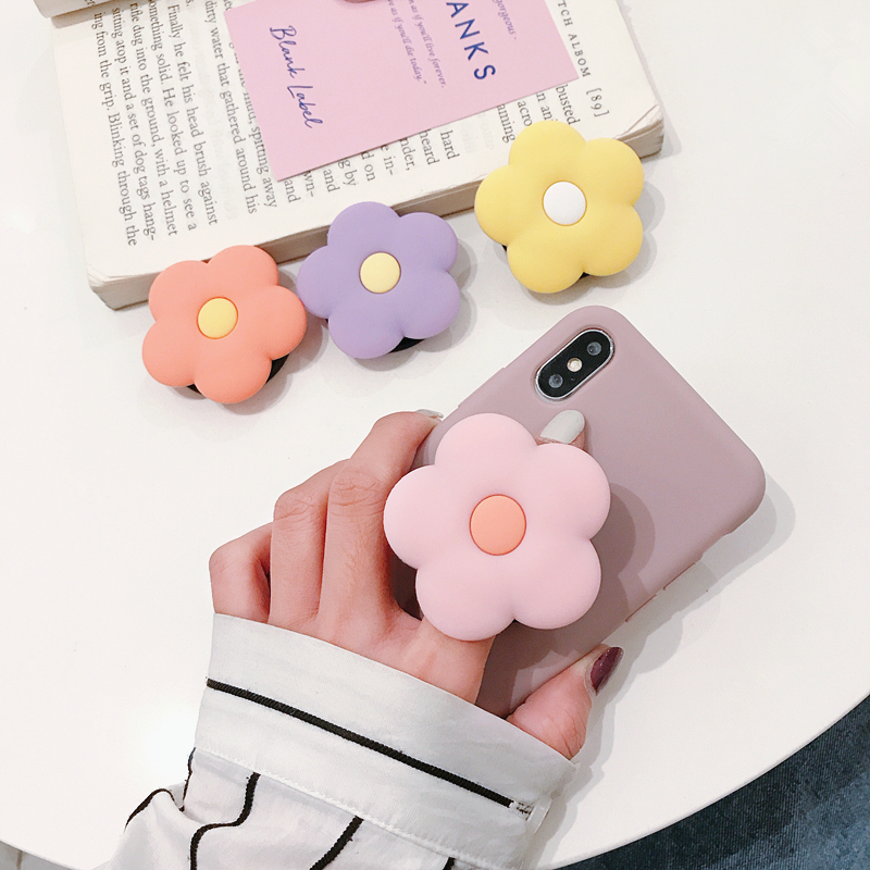 Cute Flower Folding Stand Kawaii For Mobile Phone Holder For IPhone X 8 7 6 Plus IPAD For Samsung For Huawei Phone Case Grip