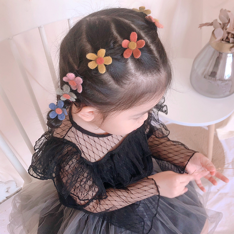 South Korea's New Children's Head Rope Does Not Hurt Hair, Girls Tie Hair, Tendons, Hair Circles, Flowers, Hair Ornaments, Baby'