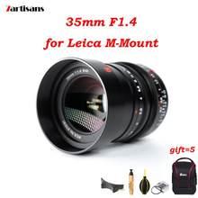 7 artesãos 35mm f1.4 para leica m montagem câmeras lente foco manual mf para M-M m240 m3 m6 m7 m8 m9 adaptador l montagem sony e fuji