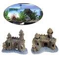 1 шт. миниатюрный полимерный мультяшный декоративный элемент для аквариума, аквариумные аксессуары, Декор, замок, башня, украшение