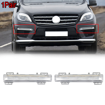 цена на MagicKit Pair A2049065401 A2049065501 LED DRL Daytime Running Light Lamp For Mercedes Benz W166 ML-Class ML500 X204 ML350 12-15