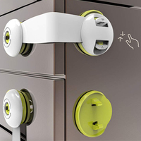 Latches Child Proof Drawer Locks No Drill Adhesive Toddler Security Baby Safety Locks for Closet  Cupboard  Fridge  Refrigerator|Electric Lock|   -