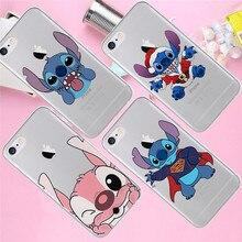 Stitch christmas For iPhone X XR XS Max 5 5S SE 6 6S 7 8 Plus phone Case Cover phone Funda Coque Etui capa shell capinha Cartoon цена и фото