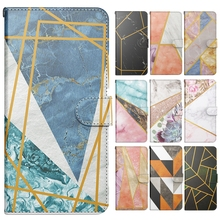 A40 Case Fashion Splicing Marble Wallet Leather Flip Phone Cover Capa for Funda Samsung Galaxy A40 A41 A42 Case Hoesje Men Women