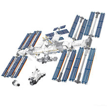 Ideas Creator International Space Station Building Blocks Kit Bricks Classic Movie Model Kids Cosmonaut Toys For Children Gift(China)