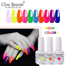 Clou Beaute Neon Warna Gel Nail Polish 226 Warna 15Ml Rendam Off Pernis UV LED Gel Varnish Rendam Off dasar dan Atas Gel Polandia(China)