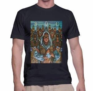 Blue Oyster Cult T Shirt Size S 3Xl Black Sleeve Men T Shirt Fashion 100% Cotton Short Sleeve O Neck Tops Tee(China)