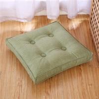 Cotton and linen tatami cushion four season chair cushion thickened dining chair cushion floating window mat floor mat